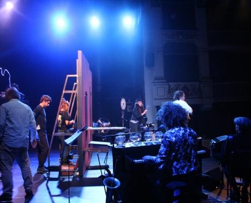 Répétition « Vols en piqué » Théâtre de Beaune - 7e Rencontres Jacques Copeau©Antonella Minchella , Romane Clere, Zoé Bardot