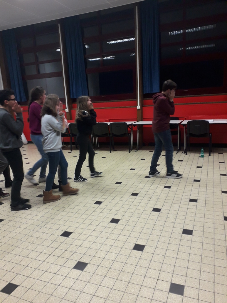 Atelier theatre avec Renaud Diligent - CLub theatre collège jules ferry