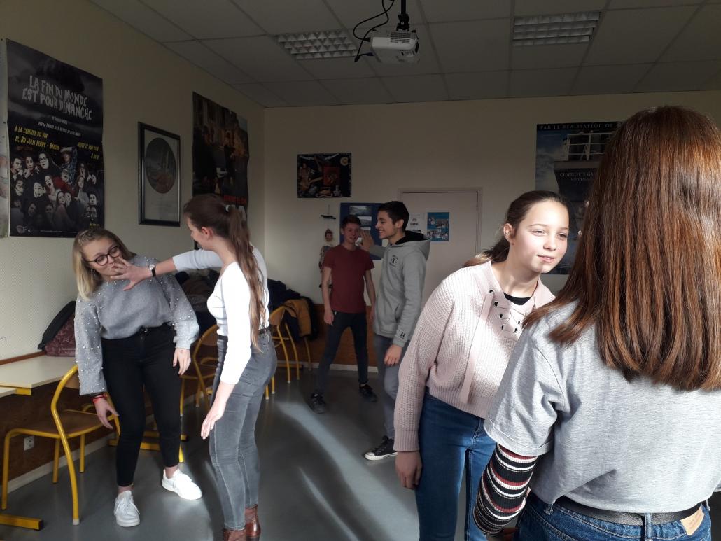 Atelier theatre avec Renaud Diligent - CLub theatre collège Lycée Marey