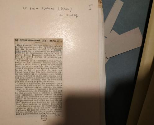 Texte extrait des archives municipales de Beaune