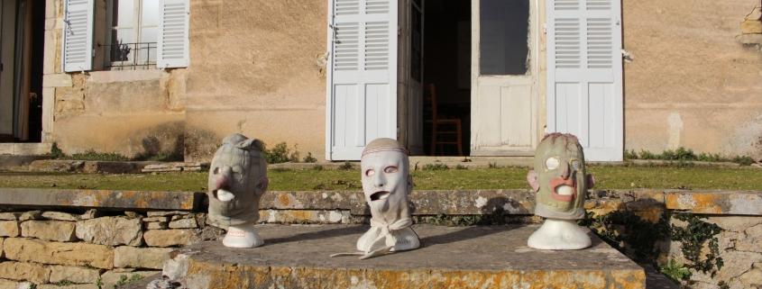 Masques de Werner Strub - Compagnie du GRAT : Jean-Louis Hourdin