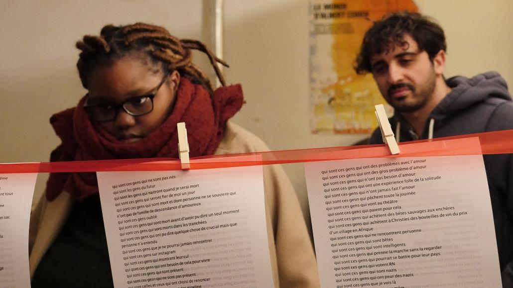 Elèves du cursus « Jouer et mettre en scène »] du CNSAD avec Barbara Métais-Chastanier